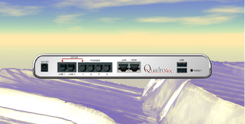 Quadro 4X SIP VOIP IP PBX cost effective solution